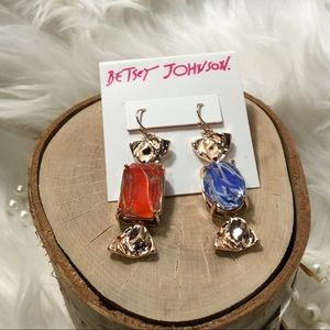 Betsy Johnson New Candy Earrings Gold
